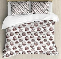 Cupcake Duvet Cover Set Twin Queen King Sizes With Pillow Shams