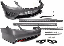 for Mercedes Benz S-class W222 AMG Bodykit S63 bumpers side skirts