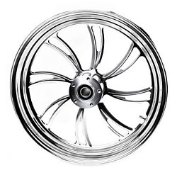 Twisted Vortex Front Wheel 18 Native Customs Harley 09-13 Abs Road King Street