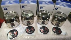 Nos Gm 77 78 79 80 81 Trans Am Snowflake Wheel Center Caps 4 And Red Medallions