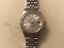 Rolex Ladies Date Just Two Tone 26mm Ref.79173 With Original Diamond Dial
