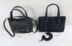 2 Small NINE WEST Black Handbags with Detachable Shoulder Straps $19.99
