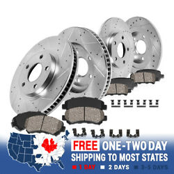 For 2013 - 2017 Ford Fusion Lincoln Mkz Front+rear Brake Rotors And Ceramic Pads