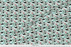 Border Collie Border Collies Border Collie Fabric Printed by Spoonflower BTY