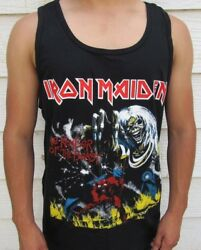 IRON MAIDEN THE NUMBER OF THE BEAST METAL ROCK MEN's TANK TOP SIZES $12.99