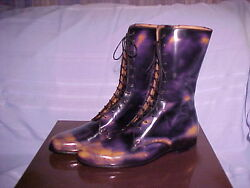 NIB Gucci RAINBOW BRUSH-OFF Patent Boots 8 UK ~ 2 DAY SALE ~ WAS $699.97