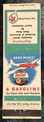 1940andrsquoandrsquos Texaco Skychief Gas Adds Wings For Those Who Want The Best Matchcover