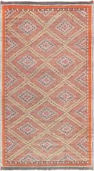 Pasargad Vintage Kilim Collection Hand-woven Lamb's Wool Rug- 6' 3 X 11' 3