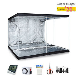 Hydroponic Reflective Mylar Grow Tent Kit Indoor Plant Growing WAccessories
