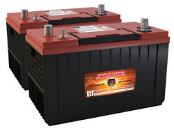 QTY 2 VMAX XCA31-1400 AGM 1400MCA GRP 31 MARINE OUTBOARD 4 STROKE GAS BATTERIES