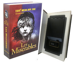 Real Paper Steel Book Booksafe With Combination Lock Hidden Safe Les Miserables