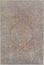 Pasargad Vintage Overdye Collection Hand-knotted Lamb's Wool Rug- 6' 4 X 9' 5