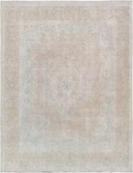 Pasargad Vintage Overdye Collection Hand-knotted Lamband039s Wool Rug- 9and039 7 X 12and039 7
