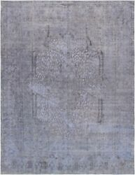 Pasargad Vintage Overdye Collection Hand-knotted Lamb's Wool Rug- 9' 5 X 12' 6