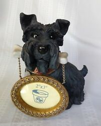 Scottish TerrierScotty dog holding a picture frame resin figurine