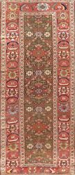 Pasargad Antique N.w. Collection Hand-knotted Lamband039s Wool Runner- 4and039 2 X 9and039 5