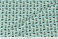 Border Collie border collie coffee print cute Fabric Printed by Spoonflower BTY