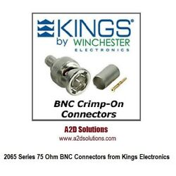 Box Of 500 Kings 2065-2-9 75 Ohm Bnc Connector - Belden 1505a 1506a