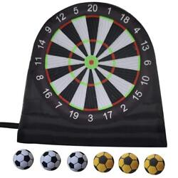 14.8ft4.5mh Inflatable Soccer Football Dart Board With 6 Balls For Sports Game
