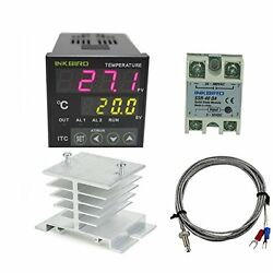 AC HVAC Controls 100 - 220V ITC-100VH Outlet Digital PID Thermostat Temperature