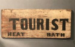 C.1920 Antique American Tourist Trade Sign Rooms Travel New England Advertising