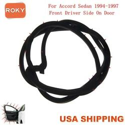 For Accord Sedan 1994-1997 Door Weatherstrip Front Left Opening Seal Stripping