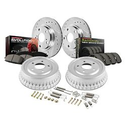 For Toyota Tundra 00-02 Brake Kit Power Stop 1-click Z23 Evolution Drilled And