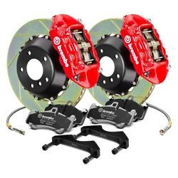 For Audi A4 06-08 Brembo GT Series Slotted 2-Piece Rotor Rear Big Brake Kit