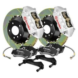 For BMW M3 01-06 Brembo GT Series Slotted 2-Piece Rotor Rear Big Brake Kit