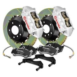 For Nissan 350Z 03-08 Brembo GT Series Slotted 2-Piece Rotor Front Big Brake Kit