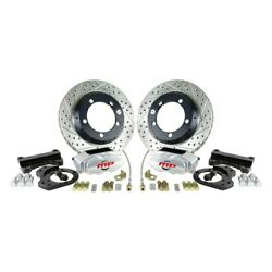 For Ford Bronco 66-74 Rallye Series Drilled And Slotted Front Brake Conversion Kit