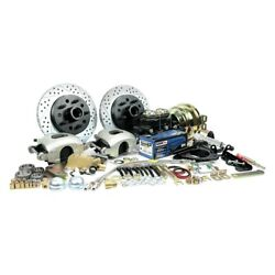 For Ford Fairlane 57-59 Brake Conversion Kit Legend Series Drilled And Slotted