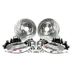 For Ford Mustang 64-69 Pro Driver Drilled And Slotted Front Brake Conversion Kit