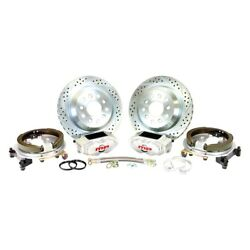 For Ford Mustang 64-73 Pro Driver Drilled And Slotted Rear Brake Conversion Kit