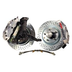 For Chevy Camaro 70-81 Pro Driver Drilled And Slotted Front Brake Conversion Kit