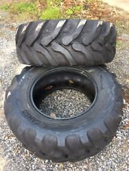 2 New Camso Bhl532 17.5l-24 Backhoe Tires-10pr-r4-17.5lx24- For Case, Cat And More