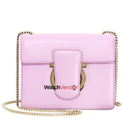 Ferragamo Thalia Leather And Suede Crossbody- Rhododendron Pink Fr21f8930-683687
