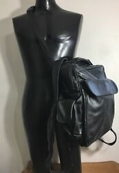 Korchmar Leather Backpack Crossbody Laptop Carry On Messenger Duffle Bag