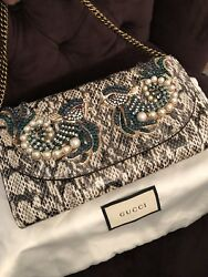 Gucci Broadway Exotic Snakeskin Clutch. Retail $4200