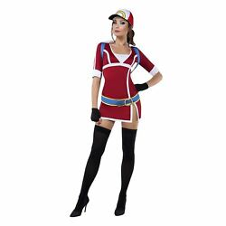 Womens Sexy Ash Red Dress Hat Backpack Pokemon Go Halloween Cosplay Costume S-xl