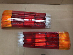 Pair Of Us Style Tail Light Lenses Fits Mercedes W107