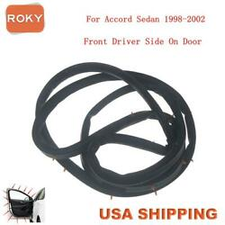 Car Door Weatherstrip Seal Silence Rubber Front Left For Accord Sedan 1998-2002