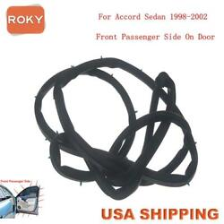 Car Door Weatherstrip Seal Silence Rubber Front Right For Accord Sedan 1998-02