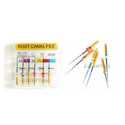 Blue Dental Heat Activated Nickel Endodontic Root Canal File Fexibility Pre-bent