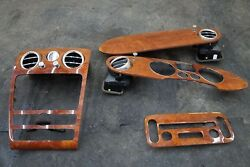 Set Dash Wood Trim Panel Radio Bezel Clock Air Vent Bentley Continental GTC 2007