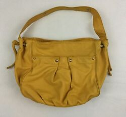 Nordstrom Saturated Yellow Soft Leather Large Slouchy Hobo Bag