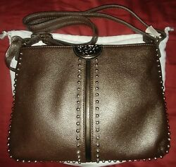 Reduced! Brighton Messenger Purse in Pewter Color w Matching Wallet: Brand new!