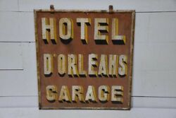 Antique French Hotel Advertising Sign - Hotel Dand039orleans