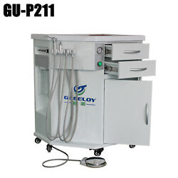 Portable Dental Unit Mobile Delivery System Cabinet With Built-in Air Compressor