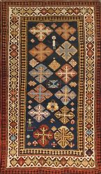 Pasargad Antique Kazak Collection Hand-knotted Lamb's Wool Rug- 2' 8 X 4' 8